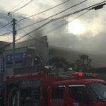 7/1 夕方に東豊中で火事がありました。消防車がすぐ駆けつけ30分位で鎮火